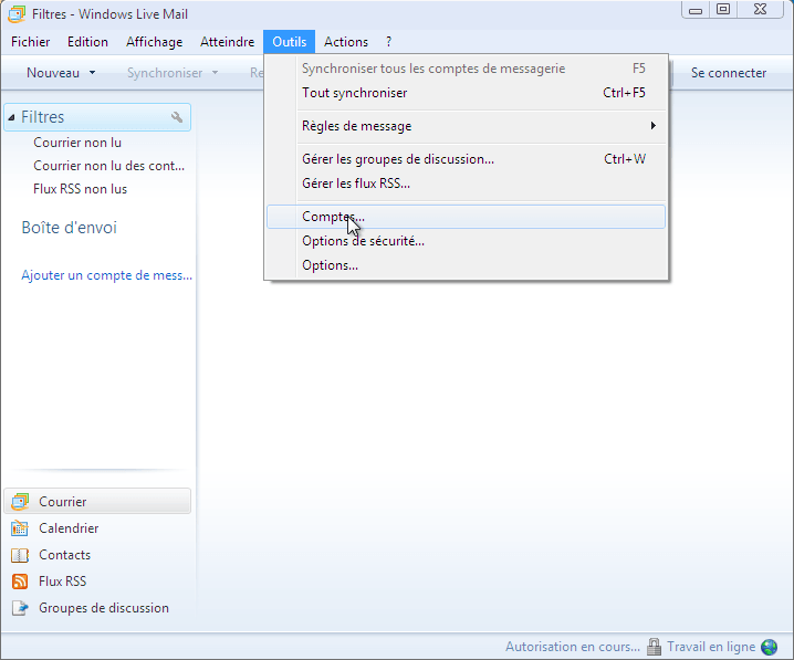 Configurer_Windows live mail : Ecran 1