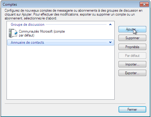 Configurer_Windows live mail : Ecran 2