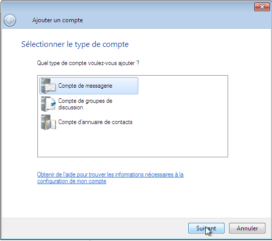Configurer_Windows live mail : Ecran 3