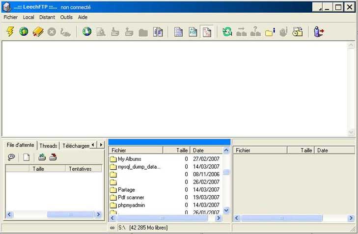 FTP_LeechFTP : Ecran 1