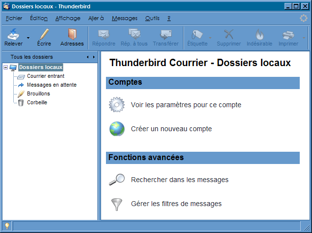 Interface_Thunderbird 2.0 : Ecran 1