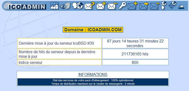 IcoAdmin_Accueil : Ecran 1