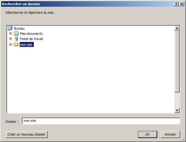 FTP_Configurer Kompozer : Ecran 2