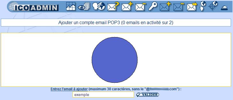 IcoAdmin_Créer un compte email : Ecran 2