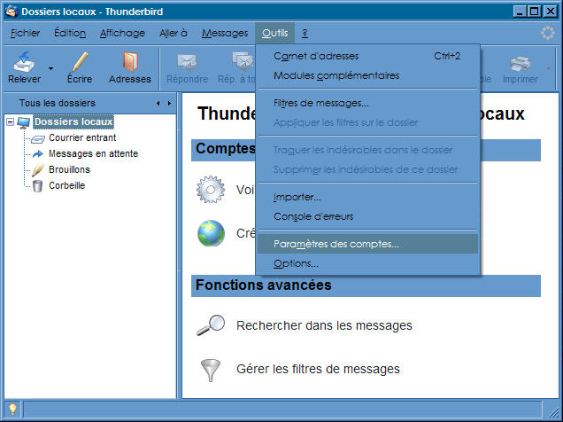 Interface_Thunderbird 2.0 : Ecran 2
