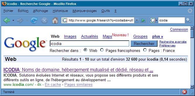 Référencer son site : écran 2
