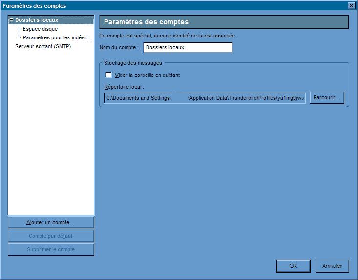 Configuration_Thunderbird 2.0 : Ecran 3