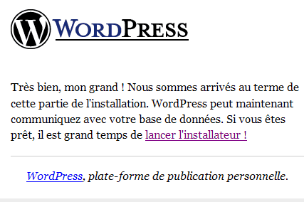 Installation_Wordpress : Ecran 4