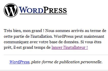 Installation_Wordpress : Ecran 4