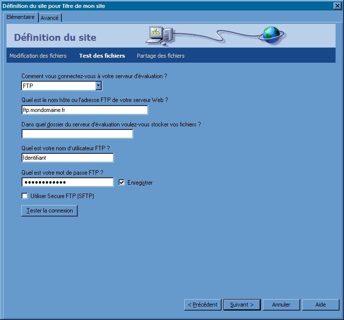 FTP_DreamweaverCS3 : Ecran 5