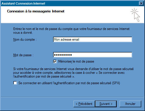 Configurer_Outlook Express : Ecran 6