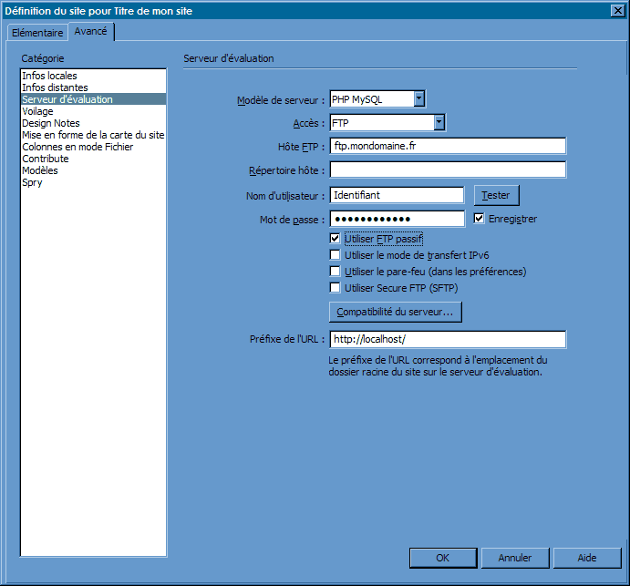FTP_DreamweaverCS3 : Ecran 9