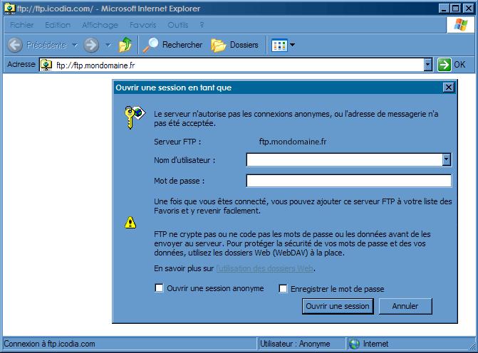Configurer_Favoris réseau : Ecran 9
