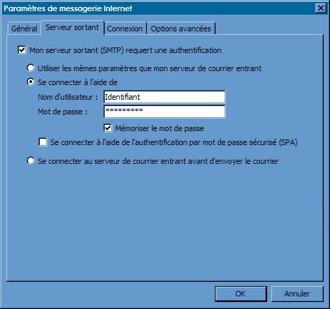 Configurer_Outlook Office 2003_SMTP : Ecran 4