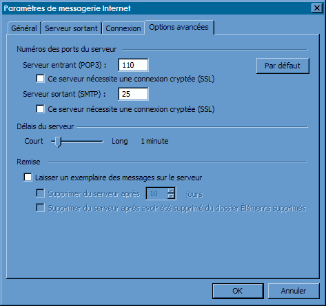 Configurer_Outlook Office 2003 : Ecran 5