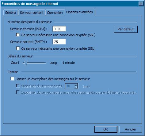 Configurer_Outlook Office 2003 : Ecran 5