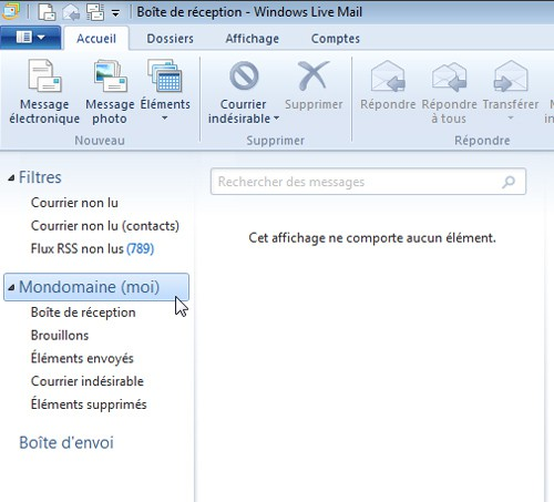 configuration de son compte email dans windows live mail. Black Bedroom Furniture Sets. Home Design Ideas